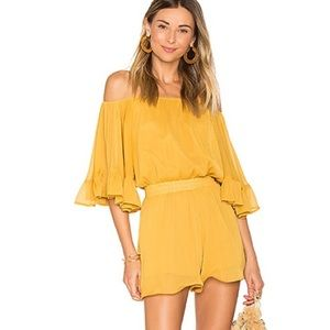 NWT Revolve Endless Rose Yellow OTS Romper